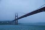 San Francisco, California: Fog and Golden Gate Bridge. Photo copyright Lee Foster. Photo # casanf104022