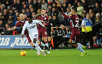 Swansea City's Nathan Dyer battles with Aston Villa's Alan Hutton<br /> <br /> Photographer Ian Cook/CameraSport<br /> <br /> The EFL Sky Bet Championship - Swansea City v Aston Villa - Wednesday 26th December 2018 - Liberty Stadium - Swansea<br /> <br /> World Copyright © 2018 CameraSport. All rights reserved. 43 Linden Ave. Countesthorpe. Leicester. England. LE8 5PG - Tel: +44 (0) 116 277 4147 - admin@camerasport.com - www.camerasport.com