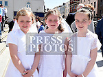 Ellie Mcnamara, Robin White and Mia White who received thier First Holy Communion in St. Peters Church pictured with mother Pamela, aunt Betty Norris and grandmother Sheila Halpin. Photo:Colin Bell/pressphotos.ie
