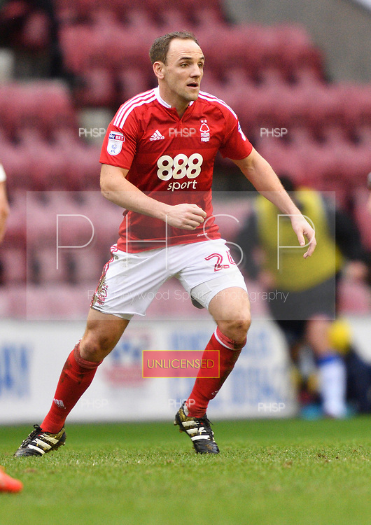 25/02/2017 Sky Bet Championship Wigan Athletic v Nottingham Forest<br /> <br /> David Vaughan, Nottingham Forest FC