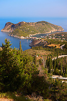 View of Assos with the Venetian Isalnd fortifications. Kefalonia, Greek Ionian Islands