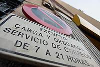 Signage.  Madrid, Spain.