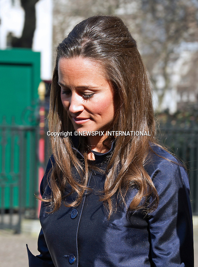 PIPPA MIDDLETON DISPLAYS WRINKLES ON HER FOREHEAD DESPITE MAKE-UP<br /> when she attended Sir David Frost Memorial Service, Westminster Abbey, London_13/03/2014<br /> Mandatory Credit Photo: &copy;Dias/NEWSPIX INTERNATIONAL<br /> <br /> **ALL FEES PAYABLE TO: &quot;NEWSPIX INTERNATIONAL&quot;**<br /> <br /> IMMEDIATE CONFIRMATION OF USAGE REQUIRED:<br /> Newspix International, 31 Chinnery Hill, Bishop's Stortford, ENGLAND CM23 3PS<br /> Tel:+441279 324672  ; Fax: +441279656877<br /> Mobile:  07775681153<br /> e-mail: info@newspixinternational.co.uk