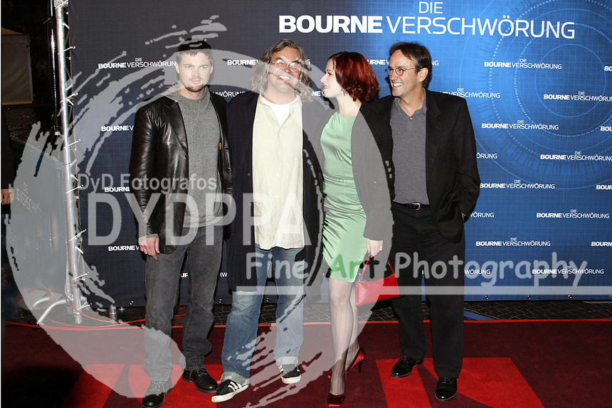 "Actor Karl Urban, director Paul Greengrass, actress Franka Potente and producer Pat Crowley attend the Germany Premiere of ""Die Bourne Verschwörung / The Bourne Supremacy"" at CineStar am Potsdamer Platz, Berlin"