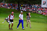 Hideki Matsuyama (JPN) approaches 18 during Sunday's final round of the World Golf Championships - Bridgestone Invitational, at the Firestone Country Club, Akron, Ohio. 8/6/2017.<br /> Picture: Golffile | Ken Murray<br /> <br /> <br /> All photo usage must carry mandatory copyright credit (&copy; Golffile | Ken Murray)