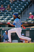 Buffalo Bisons Alen Hanson (31) at bat during an International League game against the Lehigh Valley IronPigs on June 9, 2019 at Sahlen Field in Buffalo, New York.  Lehigh Valley defeated Buffalo 7-6 in 11 innings.  (Mike Janes/Four Seam Images)