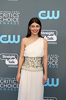 LOS ANGELES - JAN 11:  Alessandra Mastronardi at the 23rd Annual Critics' Choice Awards at Barker Hanger on January 11, 2018 in Santa Monica, CA
