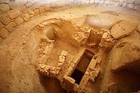 Mycenaean tholos tomb [ 1300 B.C ]. at the outskirts of the village Tzanata, near Poros in south-eastern Kefalonia, Ionian Islands, Greece.