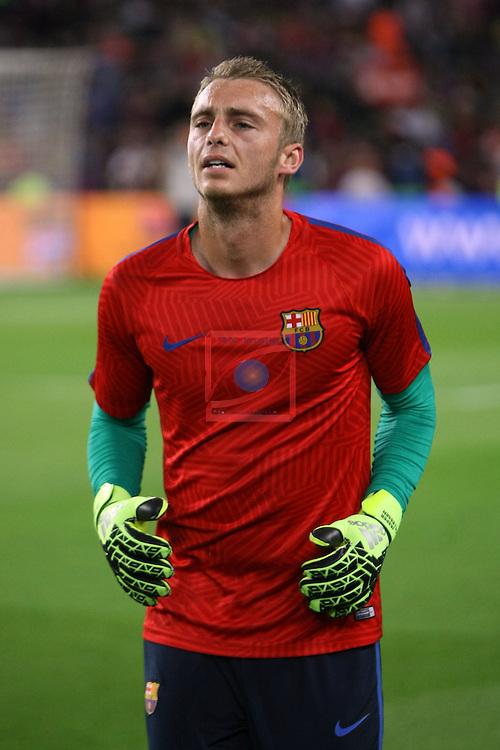 League Santander 2016/2017. Game: 5.<br /> FC Barcelona vs Atletico de Madrid: 1-1.<br /> Cillessen.
