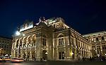 The Vienna Opera, illuminated by night