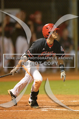 Ball State Cardinals shortstop Elbert Devarie (31) during a game against the Mississippi Valley State Delta Devils on February 21, 2014 at North Charlotte Regional Park in Port Charlotte, Florida.  Ball State defeated Mississippi Valley 12-1.  (Copyright Mike Janes Photography)