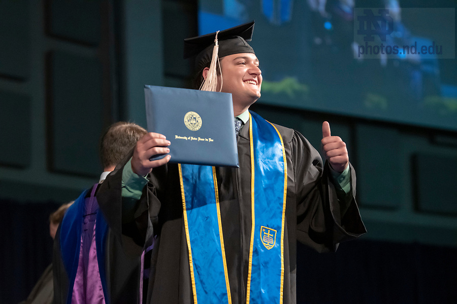 May 19, 2019; Mendoza Undergraduate Ceremony (Photo by Barbara Johnston/University of Notre Dame)