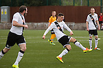 Second-half action as Edinburgh City look for the opening goal at Galabank. The match ended in a 1-1 draw, watched by 351 spectators. City were still without a League win in the new season.