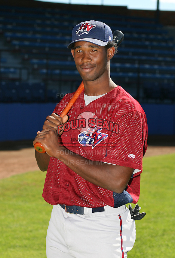 Epi De Leon of the Hudson Valley Renegades, Class-A affiliate of the Tampa Bay Devil Rays, during New York-Penn League baseball action.  Photo by Mike Janes/Four Seam Images