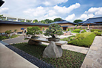 Photo shows bonsai trees on display at the Saitama Omiya Bonsai Museum of Art in Saitama, Japan on 15 Aug. 2011..Photographer: Robert Gilhooly