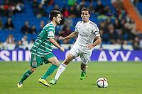 Real Madrid´s Alvaro Arbeloa (R) during Spanish King Cup match between Real Madrid and Cornella at Santiago Bernabeu stadium in Madrid, Spain.December 2, 2014. (NortePhoto/ALTERPHOTOS/Victor Blanco)
