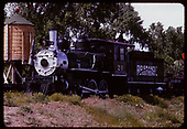 3/4 view of RGS #20 displayed at Colorado Railroad Museum.<br /> RGS  Golden, CO  ca. 1970