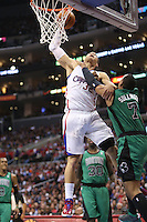 12/27/12 Los Angeles, CA: Los Angeles Clippers power forward Blake Griffin #32 and Boston Celtics power forward Jared Sullinger #7 during an NBA game between the Los Angeles Clippers and the Boston Celtics played at Staples Center. The Clippers defeated the Celtics 106-77 for their 15th straight win.