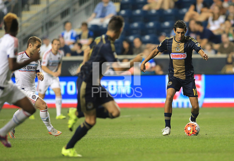 Chester, PA. - Wednesday, August 12, 2015: The Philadelphia Union defeated the Chicago Fire 1-0 in a US Open Cup semi-final match match at PPL Park.