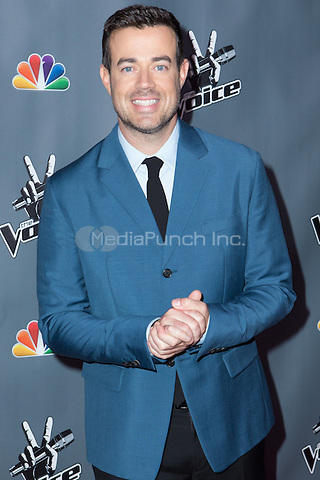 """UNIVERSAL CITY, CA - NOVEMBER 07: Host Carson Daly at NBC's """"The Voice"""" Season 5 Top 12 in Universal City Plaza, on November 7th, 2013 in Universal City, California Photo Credt: RTNRossi / MediaPunch Inc."""