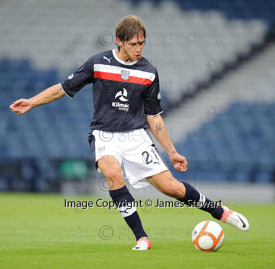 Davide Grassi : Dundee FC ........29/08/2012   Copyright  Pic : James Stewart.jsp040_qp_v_dundee   .James Stewart Photography 19 Carronlea Drive, Falkirk. FK2 8DN      Vat Reg No. 607 6932 25.Telephone      : +44 (0)1324 570291 .Mobile              : +44 (0)7721 416997.E-mail  :  jim@jspa.co.uk.If you require further information then contact Jim Stewart on any of the numbers above........