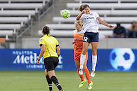 Houston, TX - Thursday Aug. 18, 2016: Ellie Brush, Katie Stengel during a regular season National Women's Soccer League (NWSL) match between the Houston Dash and the Washington Spirit at BBVA Compass Stadium.