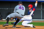 10 March 2009: Washington Nationals' infielder Ian Desmond is tagged out at the plate by relief pitcher Eddie Kunz in the ninth during a Spring Training game against the New York Mets at Space Coast Stadium in Viera, Florida. The Nationals and Mets tied 5-5 in the 10-inning Grapefruit League matchup. Mandatory Photo Credit: Ed Wolfstein Photo