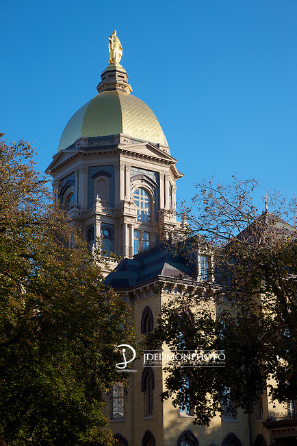 The Golden Dome over the Administration Building at the University of Notre Dame