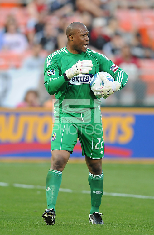 Chivas USA goalkeeper Zach Thornton (22).  DC United defeated Chivas USA 3-2 at RFK Stadium, Saturday  May 29, 2010.
