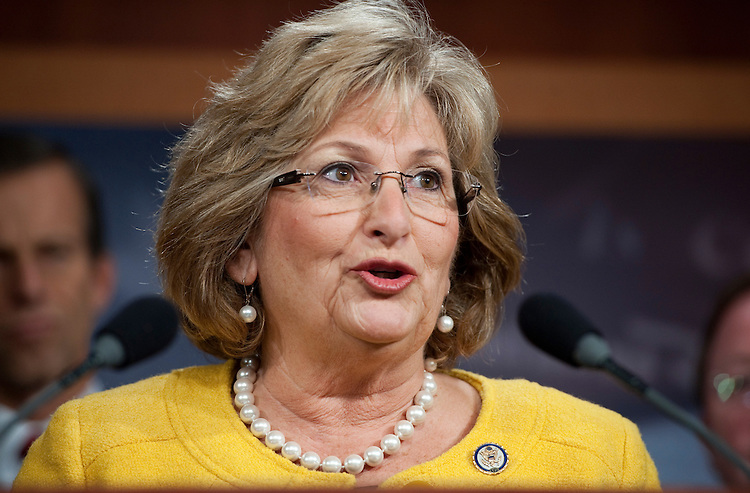UNITED STATES - NOVEMBER 03:  Rep. Diane Black, R-Tenn., speaks at a bicameral news conference in the Capitol to call for Senate action on jobs bills passed by the House.  (Photo By Tom Williams/CQ Roll Call)