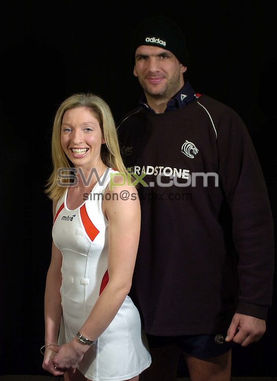 Pix: Ben Duffy/SWpix.com.....England Netball captain Olivia Murphy....01/03/2004..England Netball captain Olivia Murphy meets Leicester Tigers and England star Martin Johnson..?COPYRIGHT PICTURE>>SIMON WILKINSON>>08700920092>>.
