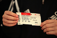 A Swansea away ticket prior to the Premier League match between Sunderland and Swansea City at the Stadium of Light, Sunderland, England, UK. Saturday 13 May 2017
