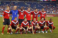 7 June 2011: Canada starting eleven before the CONCACAF soccer match between USA and Canada at Ford Field Detroit, Michigan. USA won 2-0.
