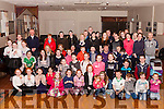 Parents with their children who competed in the Abbeyfeale Community Games talent Competition held last Friday night in the Rugby Clubhouse Abbeyfeale.