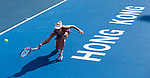 Sabine Lisicki of Germany vs Karolina Pliskova of Czech Republic during the final match of the WTA Prudential Hong Kong Tennis Open at the Victoria Pack Stadium on 14th September 2014 in Hong Kong, China. Photo by Victor Fraile / Power Sport Images