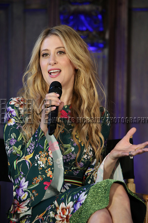 Caissie Levy attends the press day for 'Frozen' The Broadway Musical on February 13, 2018 at the Highline Hotel in New York City.