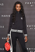 Leomie Anderson arriving for the Fenty Beauty by Rihanna launch party at Harvey Nichols, London, UK. <br /> 19 September  2017<br /> Picture: Steve Vas/Featureflash/SilverHub 0208 004 5359 sales@silverhubmedia.com