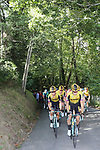 The peloton controlled by Team Jumbo-Visma climb during Stage 11 of La Vuelta 2019 running 180km from Saint Palais, France to Urdax-Dantxarinea, Spain. 4th September 2019.<br /> Picture: Luis Angel Gomez/Photogomezsport | Cyclefile<br /> <br /> All photos usage must carry mandatory copyright credit (© Cyclefile | Luis Angel Gomez/Photogomezsport)