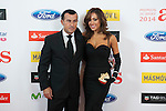 Richi Castellanos and Grecia Castta pose during AS Sport Female Awards ceremony in Madrid, Spain. December 15, 2014. (ALTERPHOTOS/Victor Blanco)