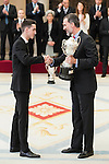 Jesús Tortosa Cabrera and King Felipe VI of Spain attends to the National Sports Awards 2015 at El Pardo Palace in Madrid, Spain. January 23, 2017. (ALTERPHOTOS/BorjaB.Hojas)