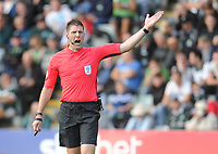 Referee Neil Hair<br /> <br /> Photographer Kevin Barnes/CameraSport<br /> <br /> The EFL Sky Bet League One - Plymouth Argyle v Blackpool - Saturday 15th September 2018 - Home Park - Plymouth<br /> <br /> World Copyright &copy; 2018 CameraSport. All rights reserved. 43 Linden Ave. Countesthorpe. Leicester. England. LE8 5PG - Tel: +44 (0) 116 277 4147 - admin@camerasport.com - www.camerasport.com