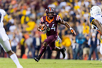 Landover, MD - SEPT 3, 2017: Virginia Tech Hokies running back Travon McMillian (34) in action during game between West Virginia and Virginia Tech at FedEx Field in Landover, MD. (Photo by Phil Peters/Media Images International)