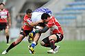 (L to R) Atsushi Hiwasa (JPN), Harumichi Tatekawa (JPN),.JUNE 17, 2012 - Rugby : IRB Pacific Nations Cup 2012 match between Japan 26-27 Samoa at Chichibunomiya Rugby Stadium, Tokyo, Japan. (Photo by Jun Tsukida/AFLO SPORT) [0003]