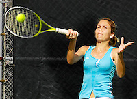 Florida International University junior Marijana Cutuk returns a shot during one of her matches on the final day of the FIU Spring Invitational, January 19-21, 2007 at Miami, Florida.  Cutuk and her doubles partner Freshman Priscilla Castillo fell to the University of South Florida's doubles pairing of Iciri Rai and Liz Cruz, 8-6.  Later in the day, the University of Miami's Caren Seenauth defeated Cutuk in singles play, 7-5, 6-2..