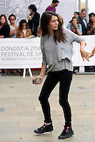 Spanish actress Claudia Traisac girl friend of US actor Josh Hutcherson arrives to Maria Cristina Hotel during the 62st San Sebastian Film Festival in San Sebastian, Spain. September 25, 2014. (ALTERPHOTOS/Caro Marin) /NortePhoto.com