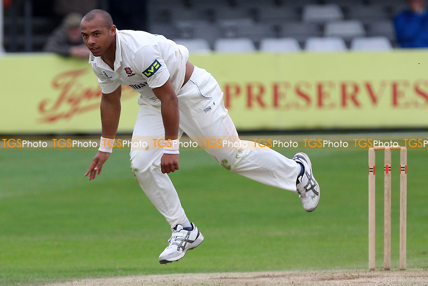 Tymal Mills in bowling action for Essex - Essex CCC vs Kent CCC - Pre-Season Friendly Cricket Match at the Essex County Ground, Chelmsford - 04/04/14 - MANDATORY CREDIT: Gavin Ellis/TGSPHOTO - Self billing applies where appropriate - 0845 094 6026 - contact@tgsphoto.co.uk - NO UNPAID USE