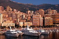 Yachts in the harbor, Port of Monaco, Monte Carlo, Monaco