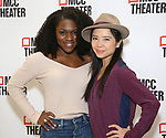 """Nkeki Obi-Melekwe and Catherine Ricafort attends the Photo Call for the MCC Theater's World Premiere production of """"Alice by Heart"""" at the New 42nd Street Studios on December 17, 2018 in New York City."""