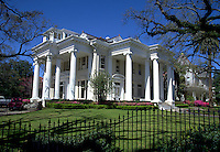 The exterior of an opulent mansion. Louisiana.
