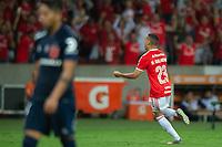 11th February 2020; Beira-Rio Stadium, Porto Alegre, Brazil; Libertadores Cup, Internacional versus Universidad de Chile; Marcos Guilherme of Internacional celebrates his goal in the 76th minute for 2-0
